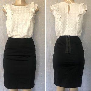 Dalia Collection Black Pencil Skirt